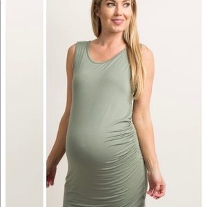 c8fee78b674 Pinkblush Dresses - Pinkblush Olive Wrap Hem Fitted Maternity Dress